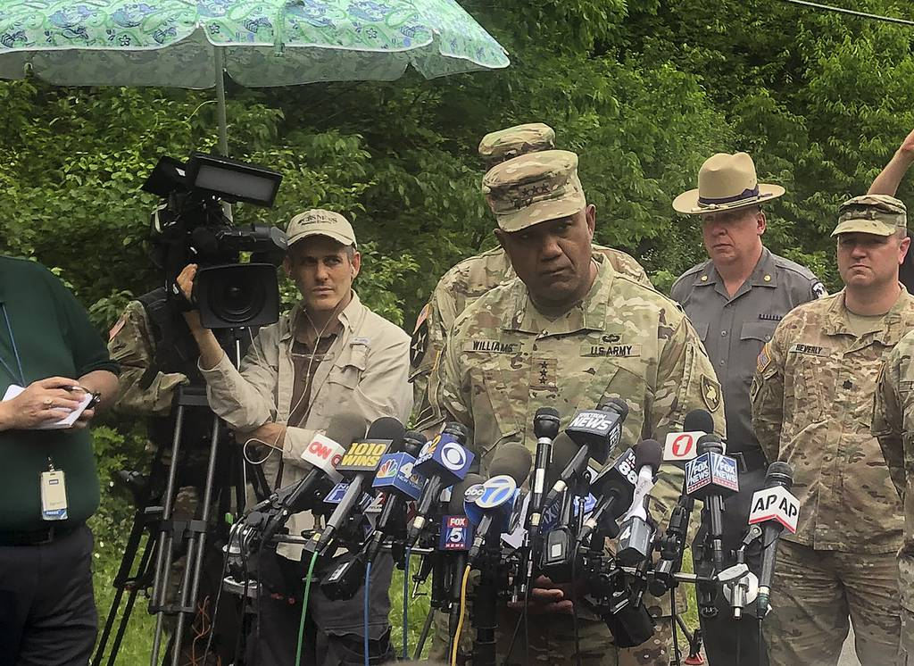 U.S. Military Academy superintendent Lt. Gen. Darryl Williams speaks during a news conference