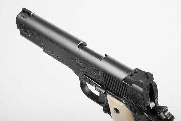 The Nighthawk Customs VIP Black is a 1911 with style