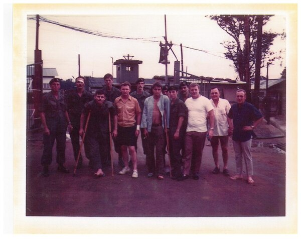 Sgt. Gary M. Rose (third from left) and members of Operation Tailwind, Sept. 15, 1970, the morning after the operation. (Photo courtesy Gary M. Rose)