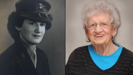 Dorothy (Schmidt) Cole enlisted in the Marine Corps at the age of 29 following the attack on Pearl Harbor. (Marine Corps)
