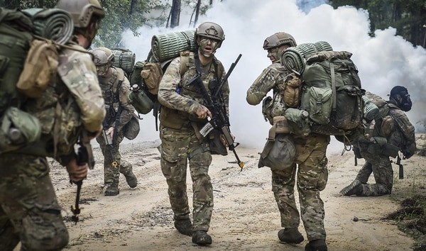 Combat Control School students conduct tactics field training at Camp Mackall, N.C., in August 2016. The Air Force has fewer non-deployable airmen than expected, given DoD-wide non-deployable numbers. (Senior Airman Ryan Conroy)