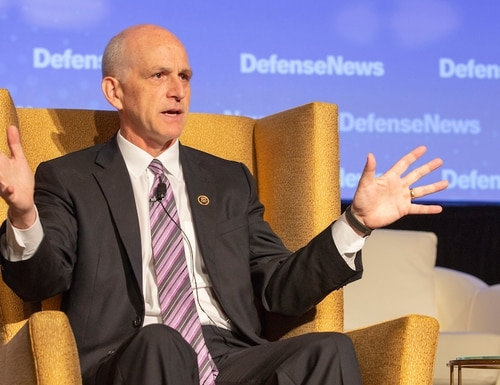 Rep. Adam Smith, D-Wash., speaks at the Defense News Conference on Sept. 5, 2018. (Staff)