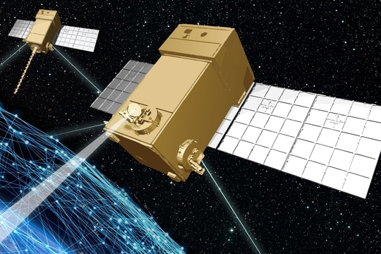 Sensors developed by the Space Development Agency are providing the ability for faster tactical electronic warfare support. (Lockheed Martin)