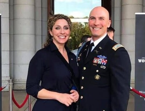 Beth Conlin, military spouse and program manager of military spouse programs at Amazon with her husband, Army Lt. Col. Shaun Conlin Jr. (photo courtesy Beth Conlin).