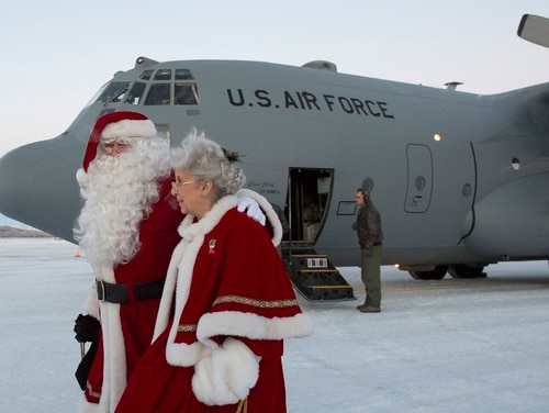 Apparently the Air Force thinks this guy doesn't exist. Volunteers from approximately 30 groups came together to bring holiday cheer to the village of St. Mary's, Alaska, Dec. 5, 2015, during Operation Santa Claus, which serves to bring Christmas to remote villages across Alaska each year. (Alejandro Pena/Air Force)