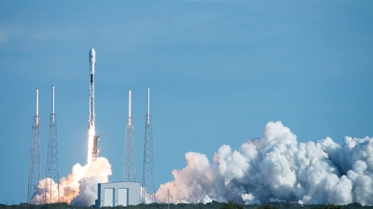 The third GPS III will be launched aboard a SpaceX Falcon 9 rocket from Cape Canaveral Air Force Station, Florida, no earlier than June 30, according to the Space and Missile Systems Center. (Airman 1st Class Zoe Thacker/U.S. Air Force)