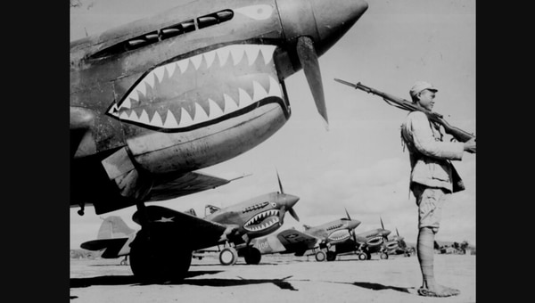 Lt. Gen. Claire Chennault's famous Kunming-based Flying Tigers, which became the 14th Air Force, grew to love SACO. (National Archives)