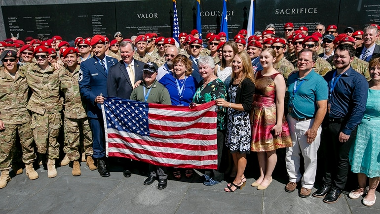 Medal of Honor recipient Chapman's name added to Wall of Honor at