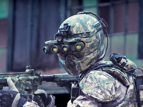 U.S. SOCOM's TALOS suit was a bold project, but one that ultimately brought less tech than initially hoped. (CNN/YouTube)