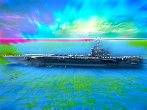 A fiction writer has penned a story about aircraft carrier sailors tripping on LSD. It's inspired by true events. (Navy Times illustration by Philip Kightlinger)