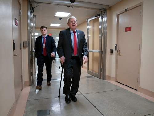 Sen. Johnny Isakson, R-Ga., chair of the Senate Veterans' Affairs Committee, says he is retiring at year's end over health concerns. (J. Scott Applewhite/AP)