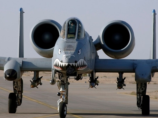 An A-10 Thunderbolt II takes off to provide close-air support to ground troops in Iraq. (Tech. Sgt. Cecilio M. Ricardo Jr./Air Force)