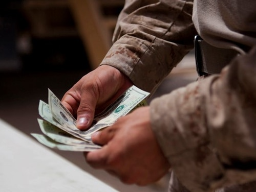 Financial help is available for those in the military affected by coronavirus restrictions. (Cpl. Paul Peterson/Marine Corps)