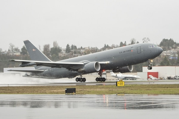 The KC-46 refueling tanker was just deemed safe by the Federal Aviation Administration; the Air Force plans on buying 179 tankers.(Courtesy photo)