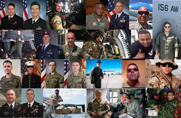 The May 2, 2018, crash of a Puerto Rico Air National Guard WC-130 in Georgia brought the number of military aviation deaths to 25 since March. (Military Times composite photo. Puerto Rico Guardsmen photos courtesy of David E. Rivera)