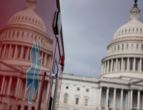 Two bills currently under consideration in Congress could have a direct impact on federal employees working in the office and interacting with the public during the COVID-19 pandemic. (Alex Edelman/AFP via Getty Images)