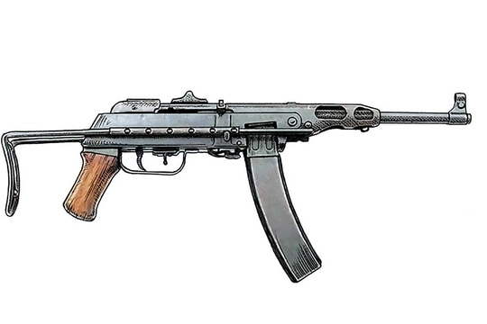 The basis for the weapon was the Chinese Type 50, a blowback, open bolt submachine gun, but with its heat shield cut back three inches and faired into the barrel. (Photo from Historynet.com)