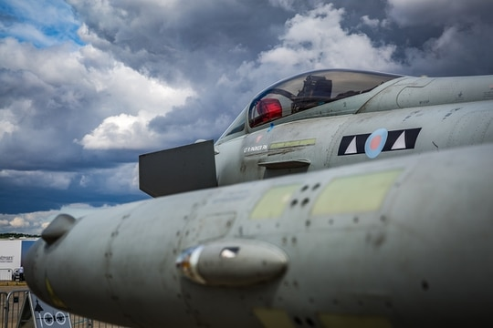 DSO has recently seen its position as the British government's lead organization for defense and security exports erode, with the MoD taking the lead on the sales effort for Typhoon combat jets. (James Williams/Staff)
