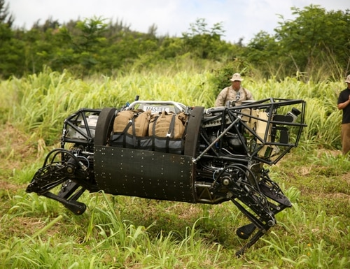 DARPA's attempt at an autonomous Legged Squad Support System, known as the robotic mule, was terminated due to noise concerns. (Sgt. Sarah Dietz/Marine Corps)