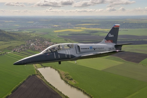 Aero Vodochody's L-39NG trainer during a flight. The company sees opportunity to market the plane to the U.S. Air Force. (Aero Vodochody)