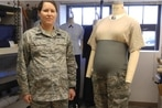 New Air Force dress blue shirt, maternity ABU on the way
