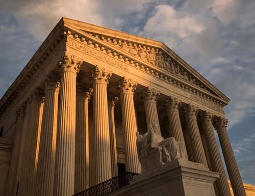 In this Oct. 10, 2017, file photo, the Supreme Court in Washington, at sunset. (J. Scott Applewhite/AP)