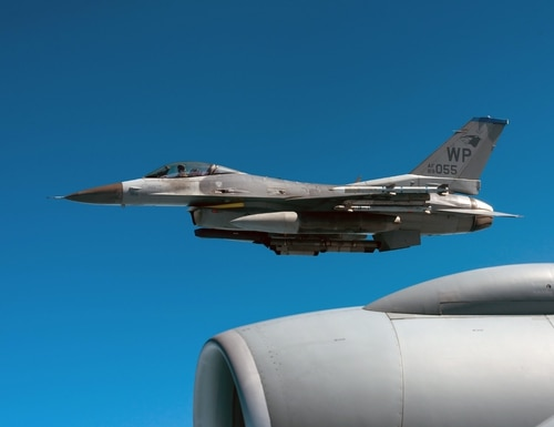 An F-16C Fighting Falcon from the 8th Fighter Wing, Kunsan Air Base, Republic of Korea, flies during a training exercise Oct. 4, 2019, out of Kadena Air Base, Japan. (Senior Airman Matthew Seefeldt/Air Force)