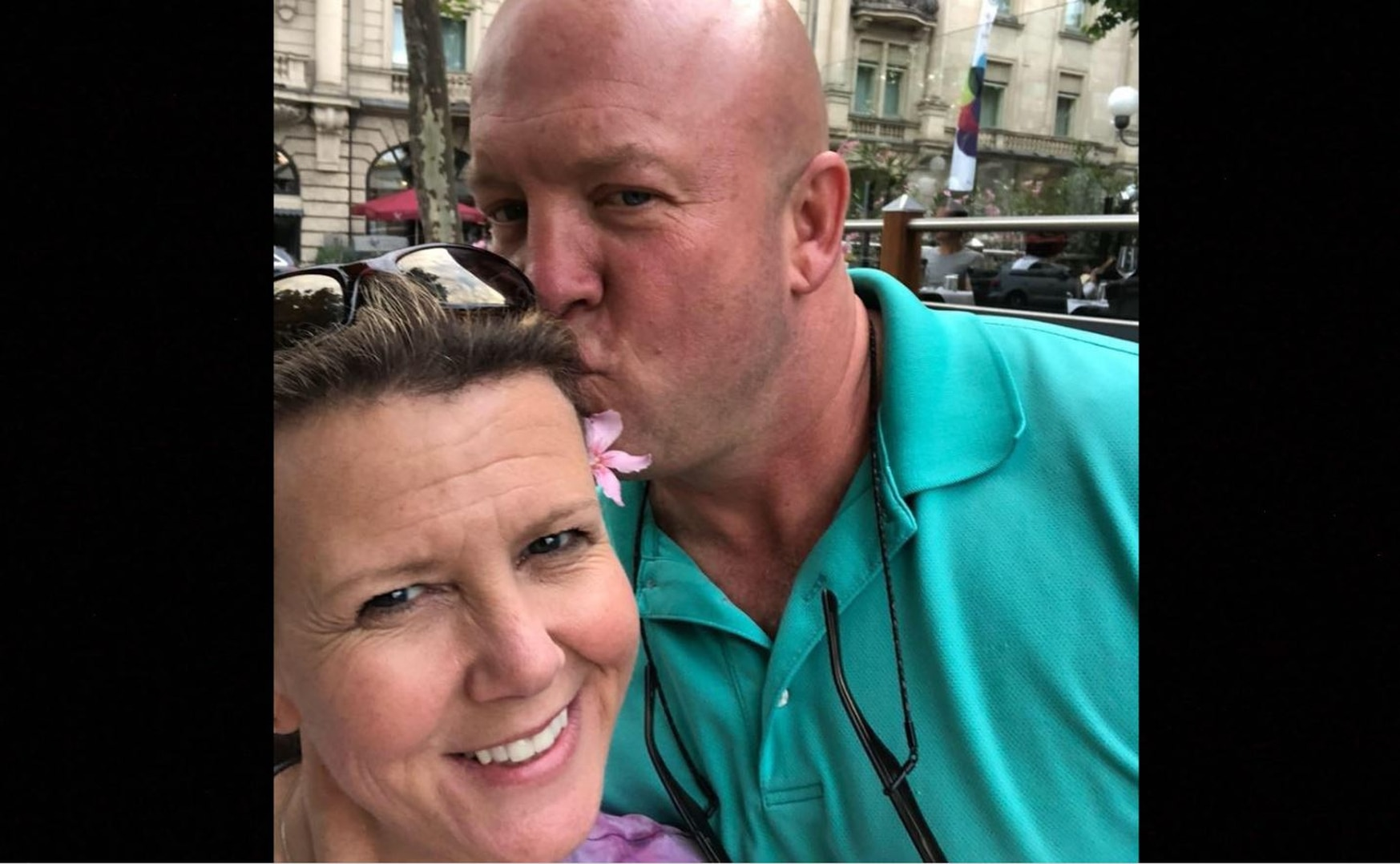 CW4 Paul J. Reidy pictured with his wife while they were in Germany for the birth of their granddaughter in June 2018. (Jennifer Reidy/Courtesy photo)