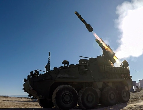 The Army's short-range air defense system undergoes weapons testing at White Sands Missile Range, N.M. (Courtesy of the U.S. Army)