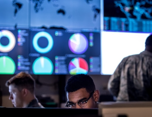 Air Force defensive cyber teams are working to utilize intelligence from the very beginning planning stages of operations. (U.S. Air Force photo by J.M. Eddins Jr.)