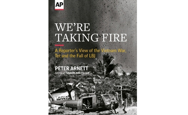 In this image of the cover of Associated Press journalist Peter Arnett's book