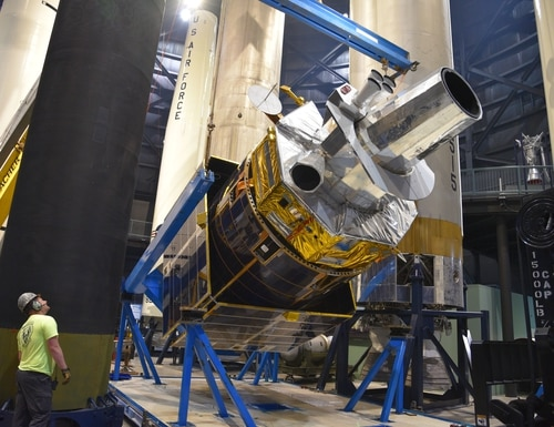 Under a new contract, Northrop Grumman will continue to support Defense Support Program satellites over the next decade. (U.S. Air Force photo by Ken LaRock)