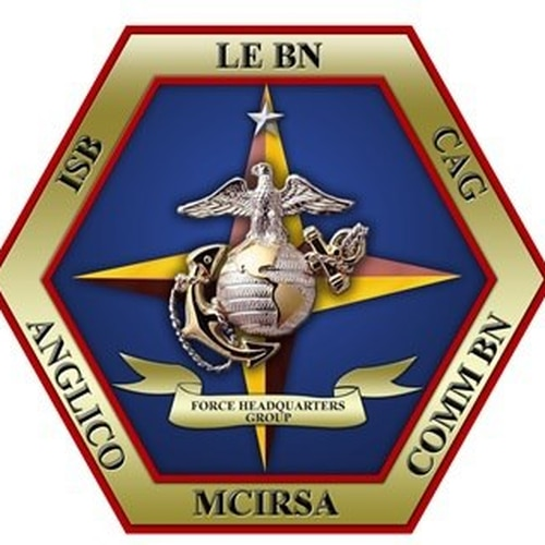 The emblem depicts Force Headquarters Group - Marine Corps, which includes Intelligence Support Battalion-New Orleans. (Marine Corps)