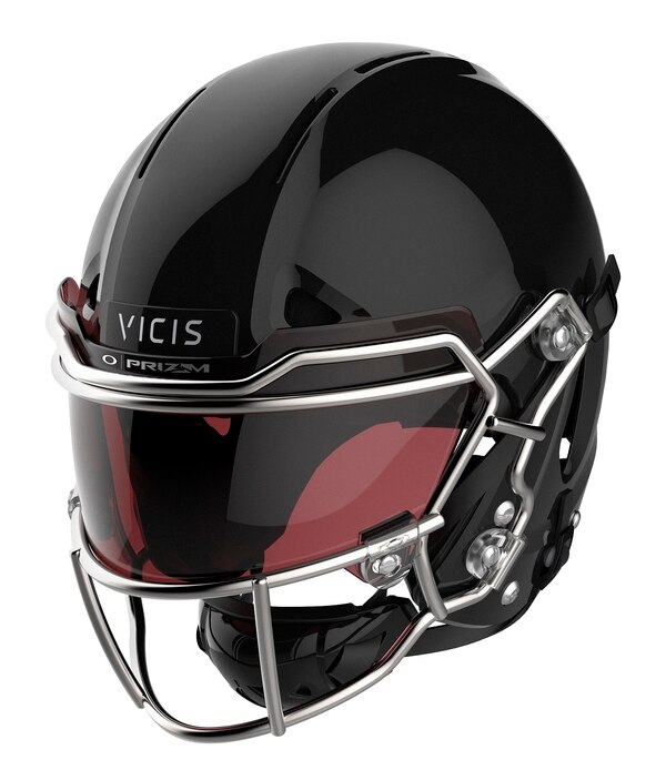 This image provided by VICIS Inc. shows the NFL's top-ranked helmet for safety, the Zero1. The Seattle-based company has been awarded a development contract by the US Army to research ways to improve combat helmets in the Army and Marine Corps. (VICIS Inc. via AP)
