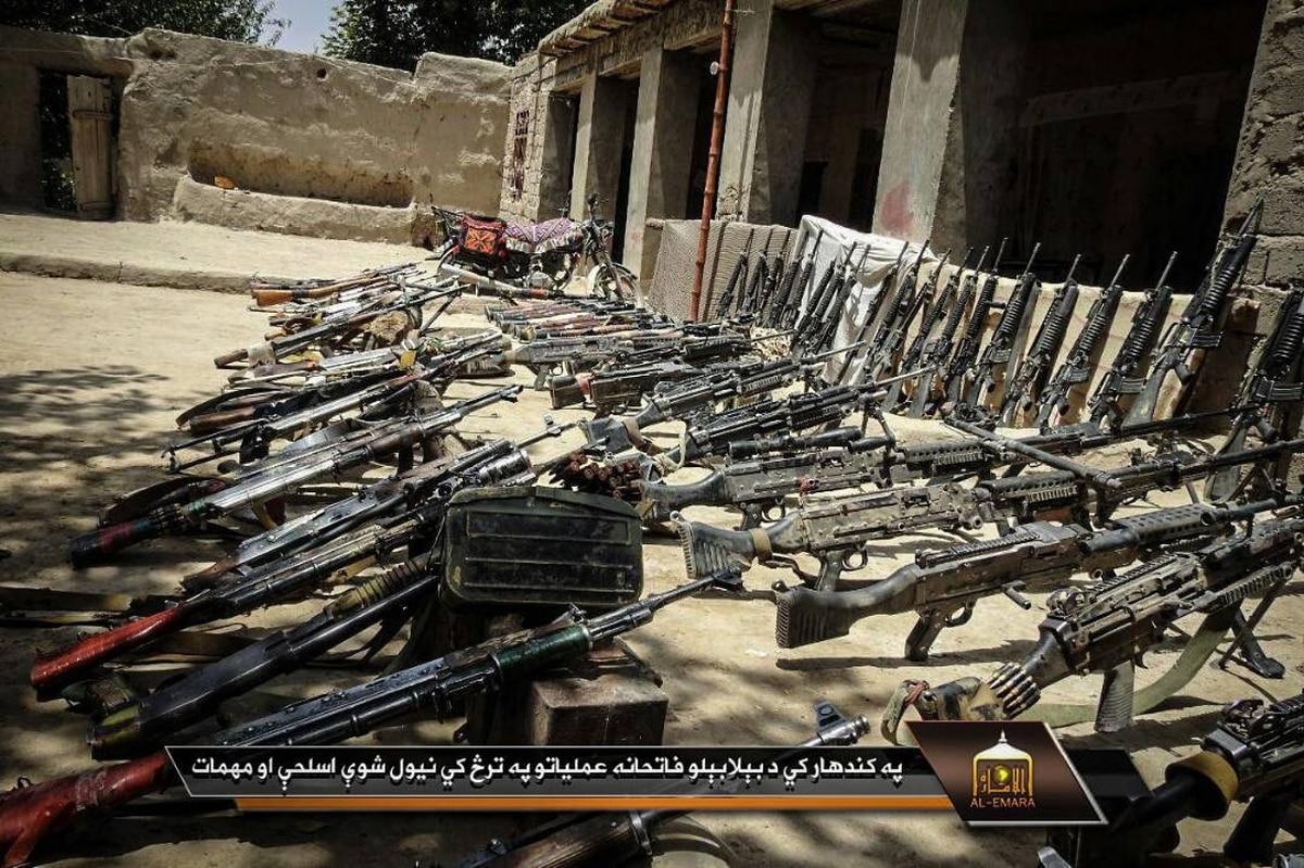 Taliban propaganda showcases US weapons and radios as