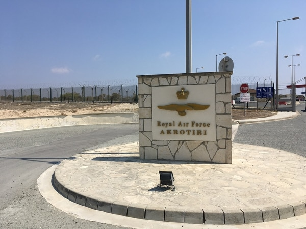 RAF Akrotiri is located at the southern tip of the former U.K. protectorate of Cyprus. (Sebastian Sprenger/Staff)