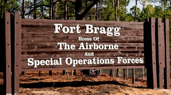 Fort Bragg Welcome Sign (Army)
