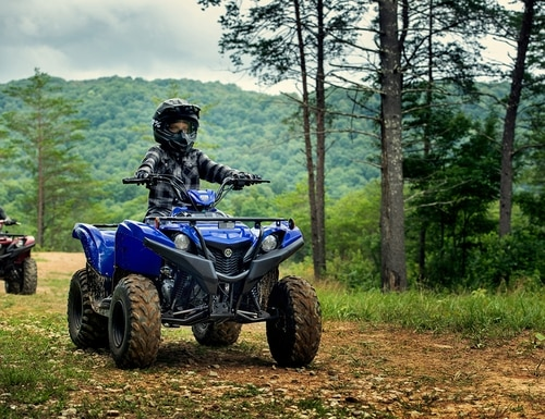 Yamaha announces 2019 Grizzly 90 youth ATV.