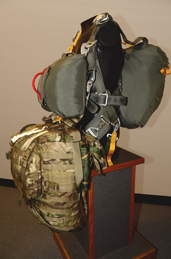 Weight distribution was a key factor in redesigning the pack that paratroopers carry. (Army)