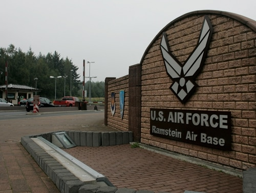 Ramstein Air Base is slated to host a new NATO space operations center. (Ralph Orlowski/Getty Images)
