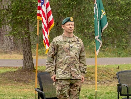 Col. Owen G. Ray, pictured here, is facing allegations of domestic assault and felony harassment. (Pfc. Gaozong Lee/Army)