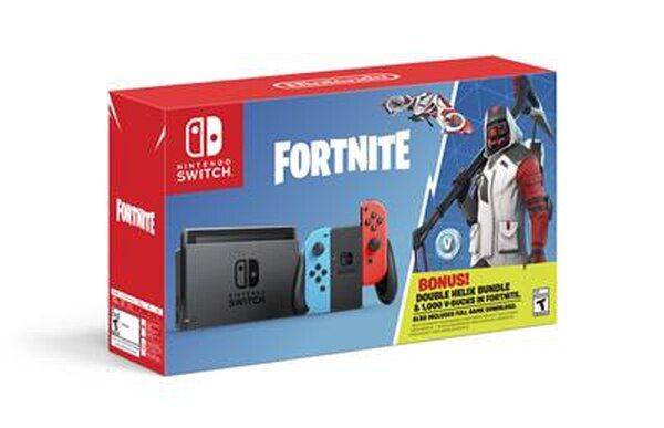 On Oct. 5, a new Nintendo Switch bundle featuring special items from the game rockets into stores at a suggested retail price of $299.99. The Nintendo Switch: Fortnite – Double Helix Bundle includes a Nintendo Switch system, 1,000 V-bucks (in-game Fortnite currency) and the Double Helix Set, consisting of a unique Character Outfit, Back Bling, Glider and Pickaxe. (Business Wire)