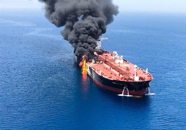 A tanker in the Gulf of Oman near the strategic Strait of Hormuz were reportedly attacked on Thursday. (Photo/Iranian Student News Agency)