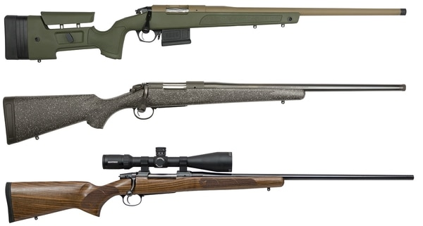 From top, the Bergara HMR Pro, Bergara B-14 Ridge and CZ-USA 557 American (Manufacturer photos)