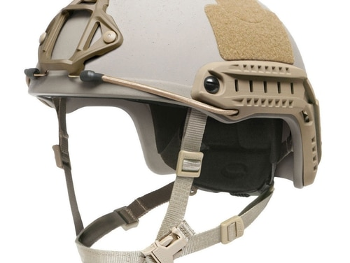 SOCOM recently selected a version of this Gentex, Ops-Core helmet for its special operations personnel. It closely mirrors a design that was being evaluated last year by the Marine Corps for infantry. (Gentex)
