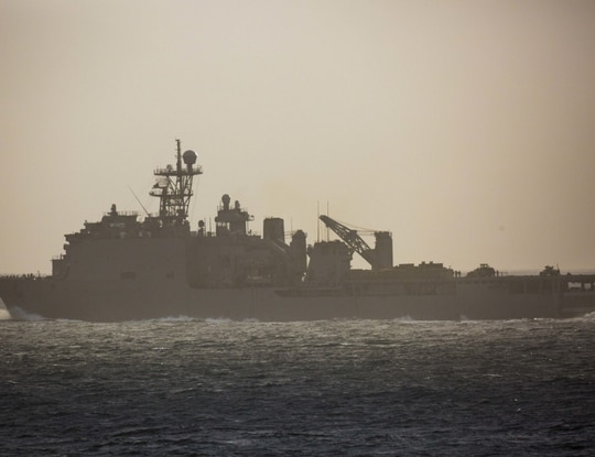 The crew of the dock landing ship Rushmore was going to be forced to quarantine on board for 28 days — through the holidays — ahead of a weeklong underway later this month, the San Diego Union Tribune reported this week. (Navy)