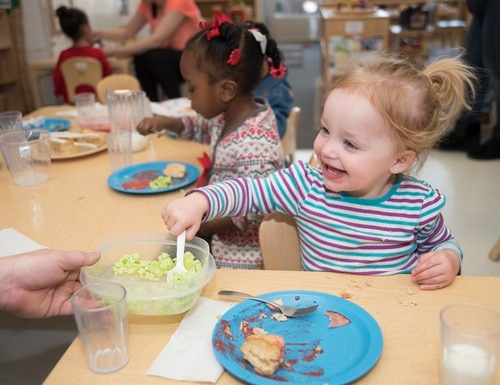 Working military families will get higher priority in DoD child care programs. (Staff Sgt. Melanie A. Hutto/Air Force)