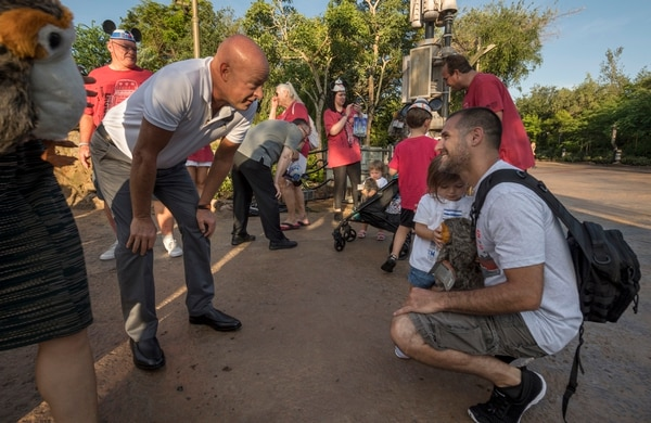 Disney Parks, Experiences and Products Chairman Bob Chapek welcomes U.S. military personnel and their families to a VIP preview of Star Wars: Galaxy's Edge at Disney's Hollywood Studios in Lake Buena Vista, Fla. Support for the U.S. Armed Forces is a long-standing Disney tradition.