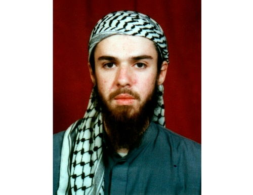 American John Walker Lindh is seen in this undated file photo obtained Jan. 22, 2002, from a religious school where he studied for five months in Bannu, 304 kilometers (190 miles) southwest of Islamabad, Pakistan. (AP)