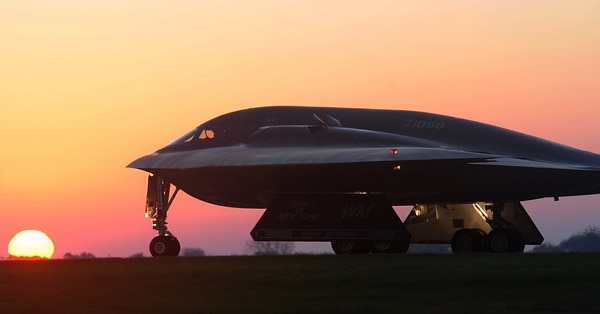Could China combine the stealth of a U.S. B-2, shown here, with the fighter prowess of an F-22? (Airman 1st Class Joel Pfiester/Air Force)